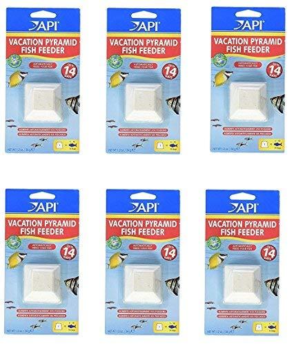 Aquarium Pharmaceuticals (6 Pack) API 14-Day Pyramid Fish Feeders
