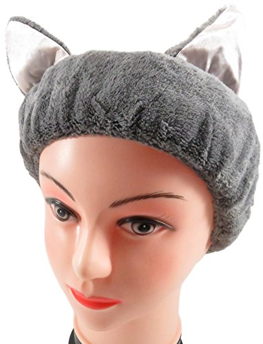 Cute Cat Ear Headband Hair Band Girls Women Black Gray Pink (Set of 2) (Unique Halloween Costumes On A Budget)