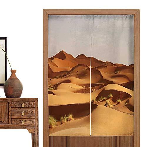 Sahara Curtain Cotton - vanfan Door Curtain Dune erg chebbi int he Sahara Desert Tapestry Cotton Linen Curtain Blind33.5 Wx33.5 L