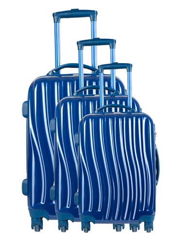 Torrente Set 3 Trolley 4 Ruote Messa Blu Marine