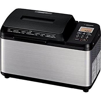 Image of Zojirushi BB-PDC20BA Home Bakery Virtuoso Plus Breadmaker, 2 lb. loaf of bread, Stainless Steel/Black Home and Kitchen
