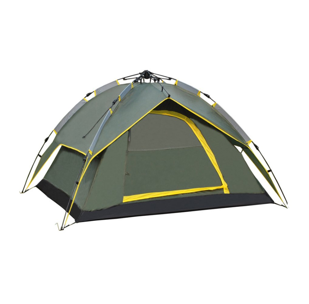 Waterproof Double Layer Camping 4 Person Instant Tent, Army Green by A-Product   B00MAYIMFO