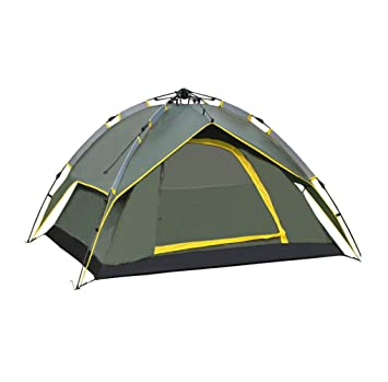 Waterproof Double Layer C&ing 4 Person Instant Tent Army Green  sc 1 st  Amazon.com & Amazon.com : Waterproof Double Layer Camping 4 Person Instant Tent ...