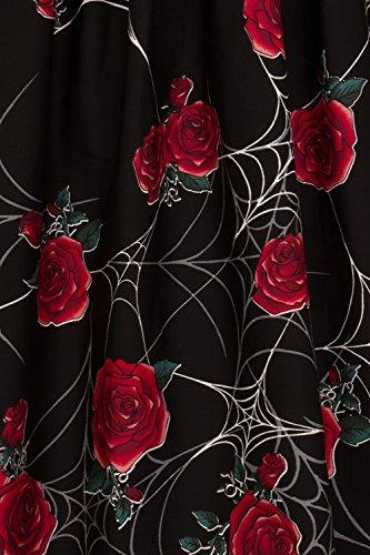 Rose araigne Rouge Jupe 12 Noir Sabrina M Hell 50 annes Bunny UK Toile q6tXxxwI