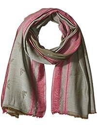 Armani Exchange Men's Viscose Fabric Scarf with Eagle Logo