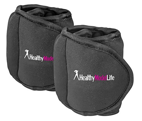 Ankle Weights Set by Healthy Model Life 1lb, 2lb, 5lb and 8lb Sets As Worn By Victoria Secret Angels Used In Top Gyms in New York