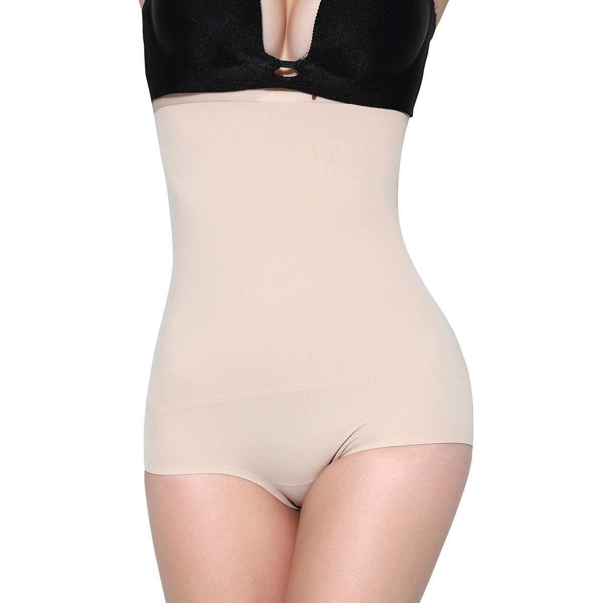 d884f4339e8b5 MOVWIN Women s Tummy Control Shapewear High Waist Seamless Body Shaper  Thigh Slimmer Butt Lifter Panties at Amazon Women s Clothing store
