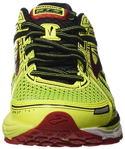 Brooks Adrenaline GTS 17, Scarpe da Corsa Uomo Multicolore (Nightlife/Black/Truered)