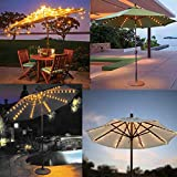 BOTER Umbrella Lights Patio LED String Lights Outdoor Battery Operated Beach Bar Decor Commercial Lights Waterproof