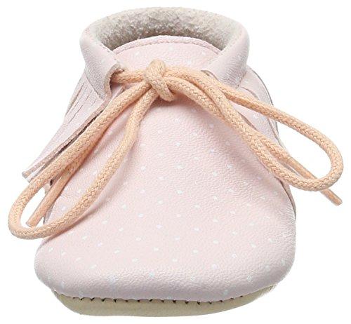 Easy Peasy Unisex Baby Meximoo Print Krabbel-& Hausschuhe Pink (rose pale/plumetis blanc)
