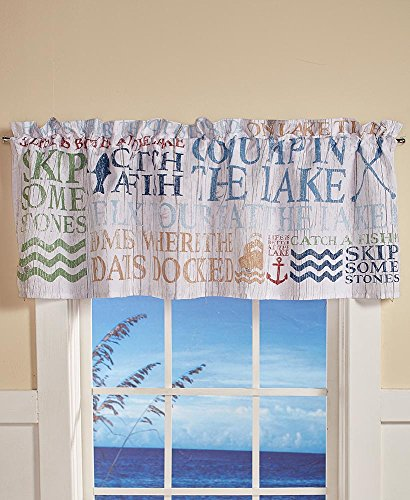 The Lakeside Collection Lakewords Window Valance ()