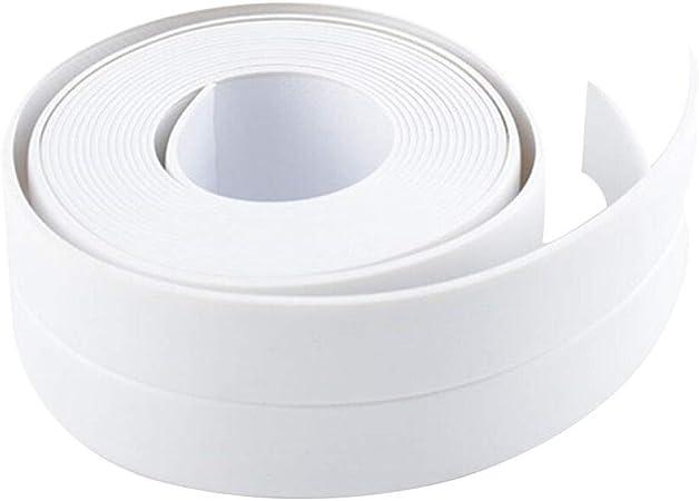Self Adhesive Bath Wall Sealing Tape Caulk Strip Waterproof Sealant Roll Sink White