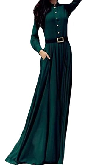 Coolred Womens Prom Gown Vintage Solid Color Chiffon Cocktail Dress Green XS