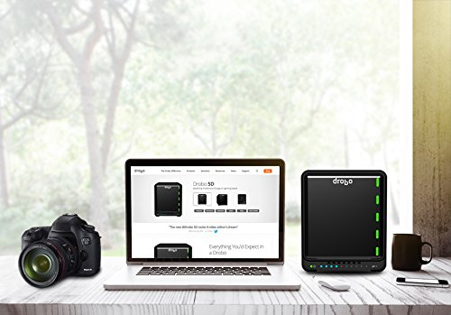 Drobo 5D 20TB: Direct Attached Storage - 5 bay array -  20TB storage included with 5 x 4TB hard drives - USB 3 and 2 x Thunderbolt 2 ports (DRDR5A21-20TB) by Drobo (Image #5)