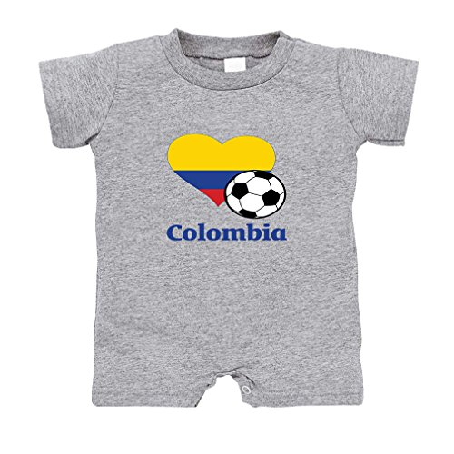 f92f098cac8 Cute Rascals Colombian Soccer Colombia Football Infant 100% Cotton T-Romper Jersey  Tee - Oxford Gray