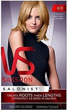 Vidal Sassoon mediano Neutral tinte de pelo rubio 8: Amazon ...