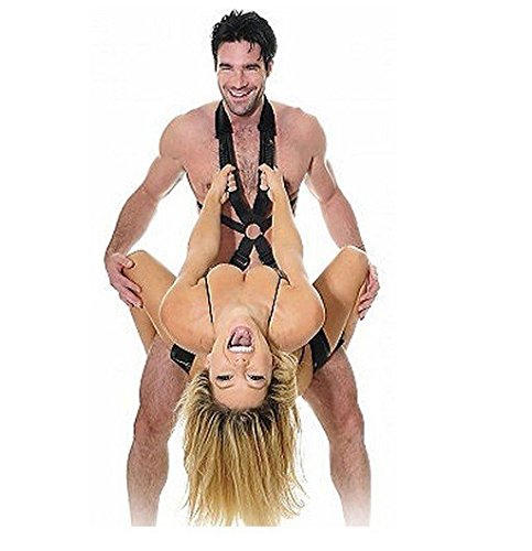 Clearance Sale Nylon Fetish Body Harness Swing Stand Leg Lift Spreader Restraint Bondage Set Adult Sex Love Game Toy for Men Women Couples by Crazy Sexy Cool