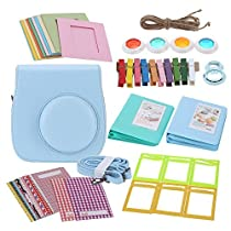 Andoer 7 in 1 Instant Film Camera Accessories Bundles for Fujifilm Instant Mini8 (Case/Photo Album/Close-Up Selfie Lens/Colors Lens/Wall Hang Frames/Photos Frame/Stickers)