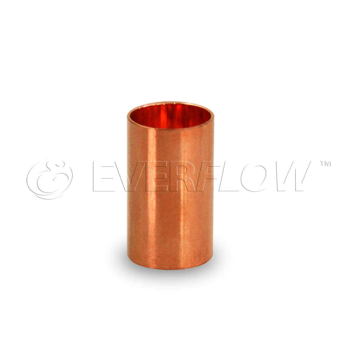 Everflow CCCL0038 3/8'' Nominal Pipe Diameter Straight Copper Coupling With Sweat Sockets And Without Tube Stop