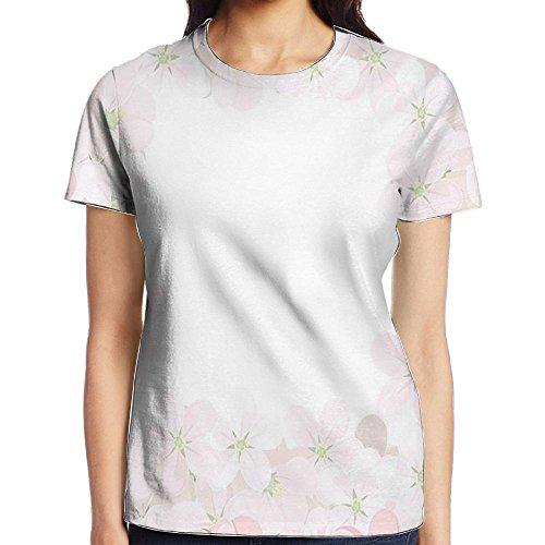 Bloom Bedding Set - WuLion Romantic Apple Flower Petals Blooms Nature Essence Beauty Bouquet Women's 3D Print T Shirt L White