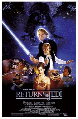 "Star Wars: Episode VI - Return Of The Jedi - Movie Poster (Regular Style) (Size: 24"" x 36"") (Poster & Poster Strip Set)"