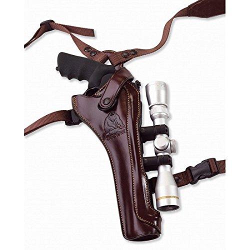 Galco Kodiak Hunter Shoulder Holster (Dark Havana Brown), 8 3/8-Inch S&W X FR 500 with Scope, Right Hand ()