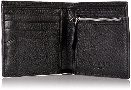Bovine Ted Zip with Coin Wallet Men's Baker Black Bifold Leather WqcqRZp17