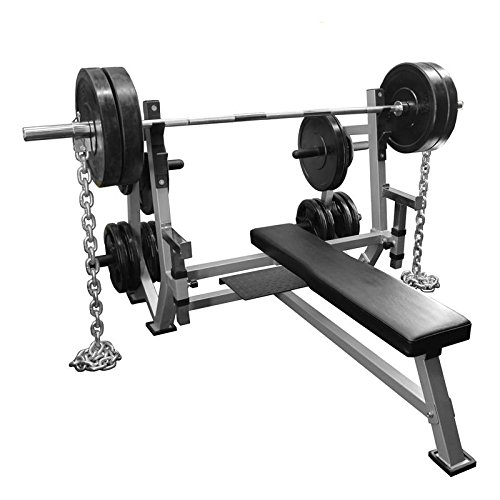 Valor Fitness BF-49 Olympic Weight Bench with Spotter Stand, Safety Catches, Plate Storage Pegs by Ironcompany.com