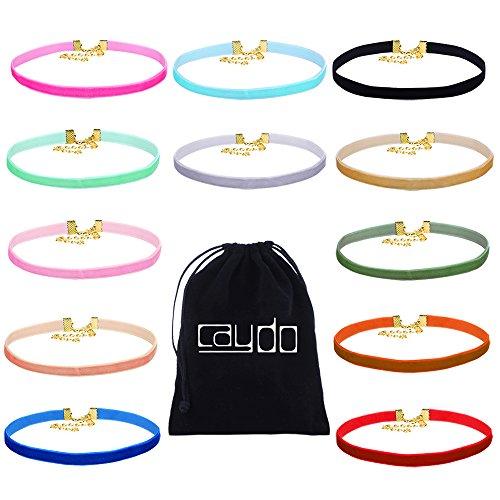 Caydo Ribbon Velvet Choker Necklace