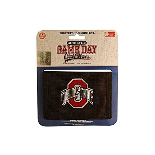 Bi Wallet College Fold State (NCAA Ohio State Buckeyes Bi-Fold Wallet with Logo)