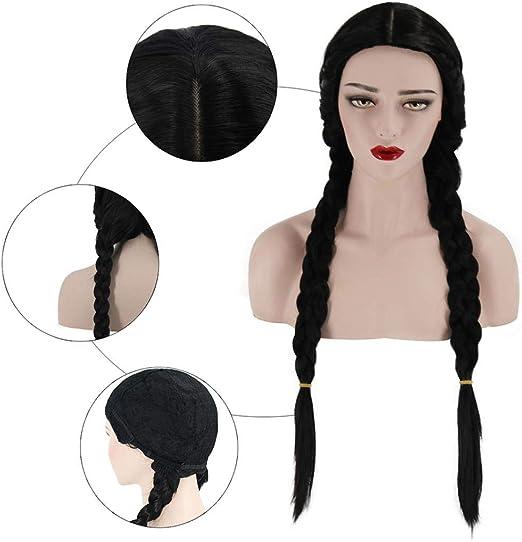 Pelucas de pelo para mujer, para disfraz, fiesta, para mujer, 2 ...