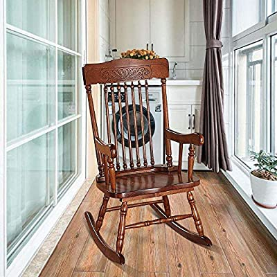 HomVent Youth Rocking Chair,Child's Wooden Rocking Chair for Boys and Girls, Measures 24x18x30 Inches, Assembly Required: Kitchen & Dining