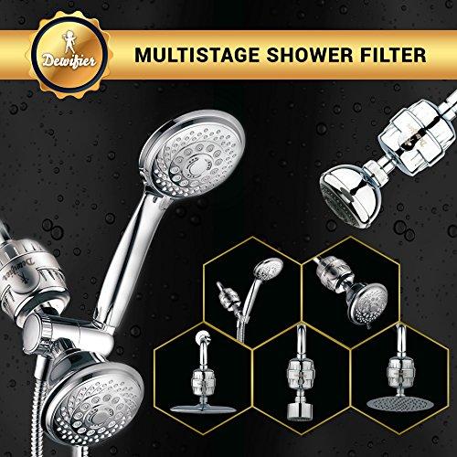 dewifier the ultimate water softener shower filter for shower head handhe. Black Bedroom Furniture Sets. Home Design Ideas