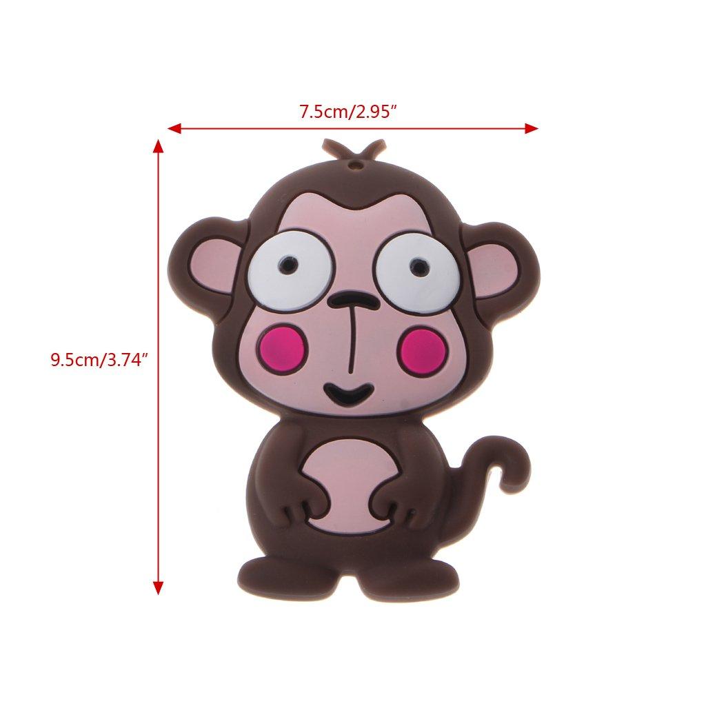 Amazon.com: LANDUM Silicone Teether Cartoon Monkey Skull ...