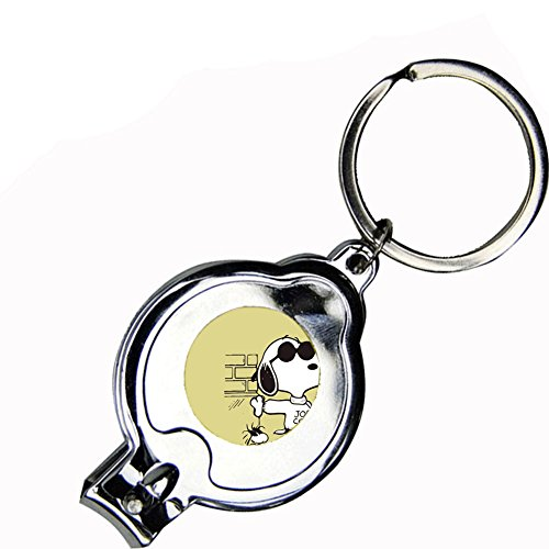Generic Hard Key Chain Style Snoopy Attached With Metallica Board A00-3