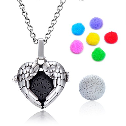 Antique Silver-tone Locket Pendant Aromatherapy Essential Oil Diffuser Necklace With 30