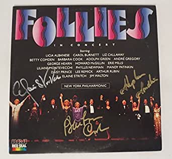 Follies broadway REAL hand SIGNED In Concert Vinyl JSA COA Barbara Cook Sondheim