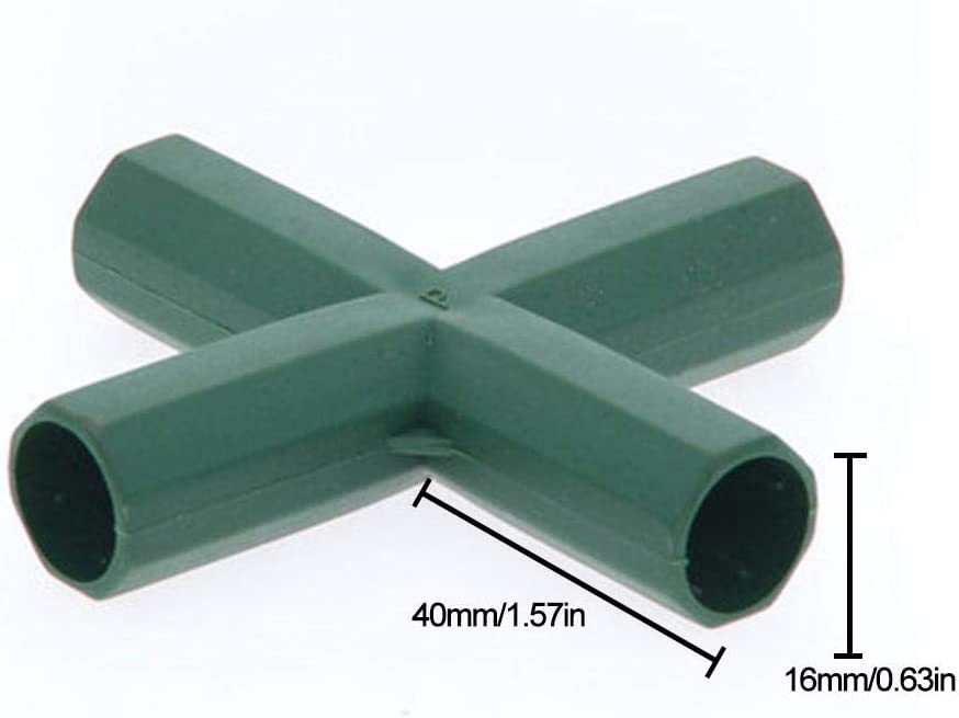 5 Types Stable Support Duty Greenhouse Frame Building Connector 5 Types 16mm PVC Fitting Build Heavy Duty Greenhouse Frame Furniture Connectors