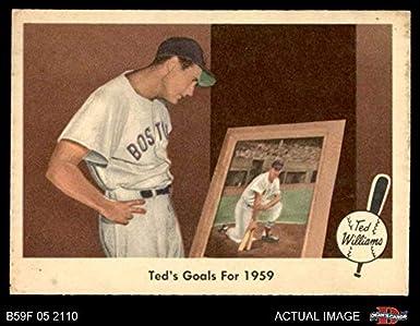 Amazoncom Fleer 80 Goals For 1959 Ted Williams Boston