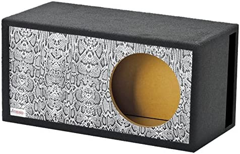Atrend GFX Series 15LSVBB-Reptile Style Snake Skin Pattern Single Vented SPL 15 Subwoofer Enclosure