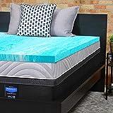 2 Gel Memory Foam Topper Sealy Essentials 2-Inch Gel Memory Foam Mattress Topper 5 YR Warranty, Queen