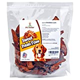 Pet Eden Sweet Potato Fries Dog Treats Made in USA Only, Best Grain Free Natural Healthy Snacks for Small Dogs, 1 lb, Free of Fillers, No Additives or Preservatives, Premium Vegan Dog Treat