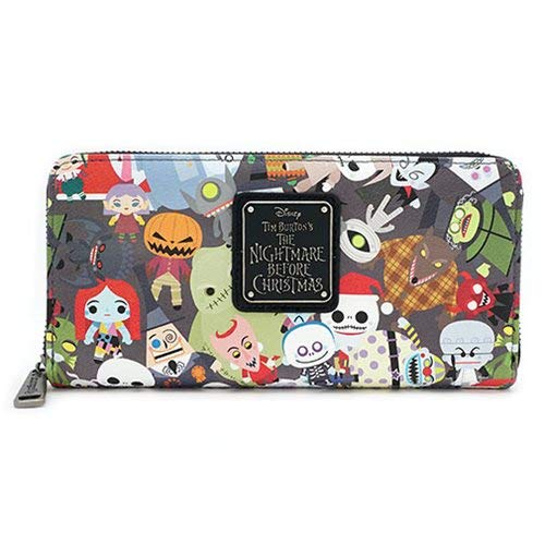Nightmare Before Christmas Zip-Around Wallet