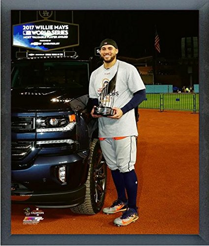 (George Springer Houston Astros 2017 World Series MVP Trophy Photo (Size: 17
