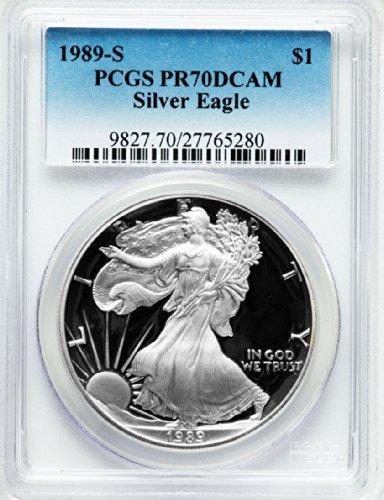 1989 S American Silver Eagle Dollar DCAM PCGS PR70