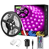 LE RGB LED Strip Lights Kit, 16.4ft 12V Flexible LED Light Strip, 5050 SMD LED, Color Changing Rope Light with Remote Controller and 12V Power Supply for TV Backlight, Home, Kitchen, Bedroom: more info