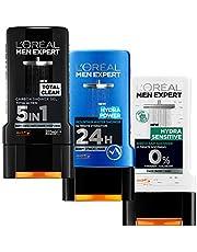 L'Oreal Paris Men Expert Shower Gel Trio - Total Clean, Hydra Power, Hydra Sensitive