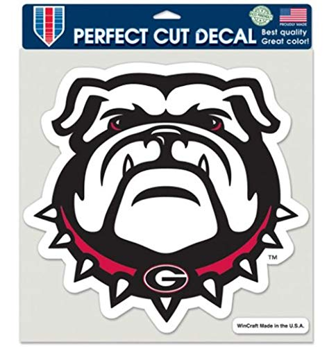 Collegiate Georgia Bulldogs New Mascot Perfect Cut Decal - 8 X 8 inches