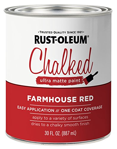 Rust-Oleum 329211 Chalked Ultra Matte Paint, 30 oz, Farmhouse Red