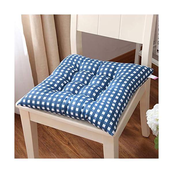WDOIT - Cuscino per Sedia, particolarmente Imbottito, per mobili in Rattan, da Giardino, Stile 3, 40 * 40cm 3 spesavip